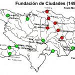 Fundación de ciudades coloniales entre 1483 a 1509