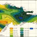 Mapa de Isoyetas o Precipitaciones promedio