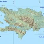 Mapa de Relieve e Hidrográfico de la Isla Santo Domingo