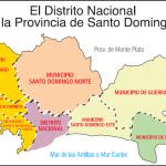 Mapa del Distrito Nacional y la Provincia de Santo Domingo