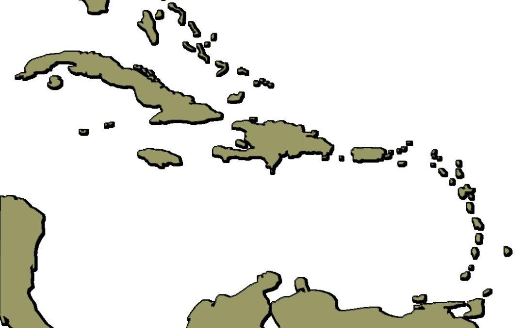 Mapa de la Cuenca del Caribe