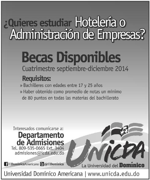 Becas Administracion de empresas y Hoteleria