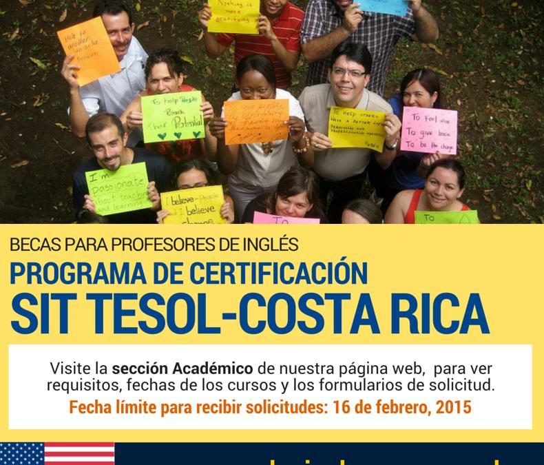 Becas Certificación SIT TESOL-Costa Rica