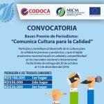Premio Periodismo Comunica Cultura para la Calidad 1ra Edicion